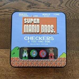 Super Mario Bros Checkers and Tic tac toe Game